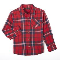 George Boys' Long Sleeved Flannel Shirt Red M/M