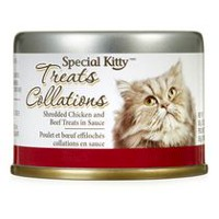 Special Kitty Shredded Chicken and Beef Cat Treats in Sauce