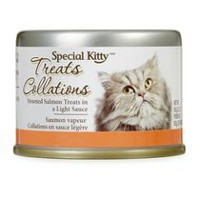 Special Kitty Steamed Salmon Cat Treats in a Light Sauce
