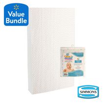 Simmons CoolSleep 2-in-1 Crib Mattress & Simmons OOPS ThermoCool Mattress Protector