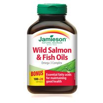 Jamieson Wild Salmon and Fish Oils Omega-3 Complex Softgels, 1,000 mg