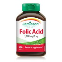 Jamieson Folic Acid 1,000 mcg Tablets, 1 mg