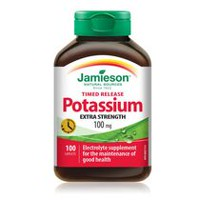 Jamieson Potassium Timed Release Caplets, 100 mg