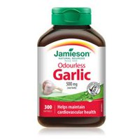 Jamieson Odourless Garlic Softgels, 500 mg
