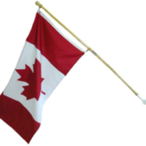 5' Flagpole Kit with Canadian Flag