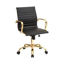 Office chair, Tony Low back in Black & Gold
