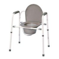 MedPro Versatile Homecare Commode Chair with Adjustable Height, Grey