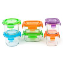 Wean Green - Baby Starter Set - Tempered Glass BPA Free Feeding Containers Lunch Storage - 6 Pieces