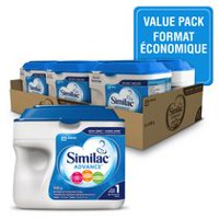 Similac Advance Non-GMO Step 1 Omega-3 and Omega-6 Infant Formula Powder - Value Pack