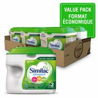 Similac Advance Non-GMO Step 2 Omega-3 and Omega-6 Infant Formula Powder - Value Pack