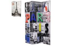 Brassex Double Sided Paris Print Room Dividers