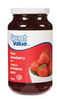 Confiture de fraises pure de Great Value