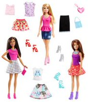 Barbie Fashionista Dolls & Accessories #2 - 3 Pack