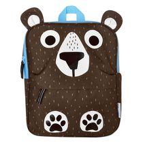ZOOCCHINI - Toddler, Kids Everyday Square Backpack - Daycare, Nursery, Kindergarten, School Bag - Bosley the Bear