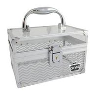 Caboodles Crystal Clear 7 Inches Cosmetic Train Case