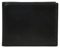 R70 Men's Genuine Slimfold Black Wallet with Pull ID