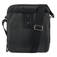 R70 Men's Canvas Hubert Double Zip Cross Body Organizer Wallet