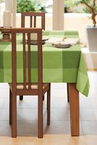 Home Trends, Topstich tablecloth, 60x84 Green