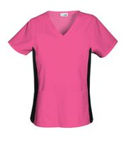 Scrubstar Women's Flexible V-Neck Scrub Top Shocking Pink Small
