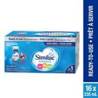 Similac Advance Step 1 Non-GMO with Omega-3 and Omega-6 Infant Formula, Ready to Use