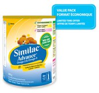 Value-Pack: Similac Advance Step 1 Non-GMO, Omega-3 & Omega-6 Infant Formula Powder
