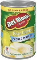 Del Monte® Sweetened Packed In Water Pear Halves