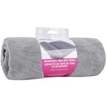 Everlast 24 Inch X 68 Inch Yoga Mat Towel - Grey