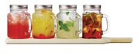 Brilliant Mason Jar 5pc Bar Set on Wood Tray