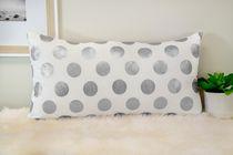 Ivory Park Foil Dots Large Silver Decorative Throw Cushion