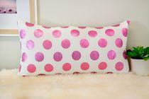 Ivory Park Foil Dots Large Pink Decorative Throw Cushion
