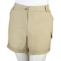 George Plus Women's Cargo Shorts Natural 20W