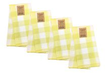 Fabstyles Country Check Cotton Set of 4 Kitchen Towel