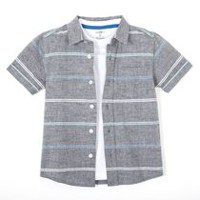 George Boys' Woven Shirt & T-Shirt Set XL/TG