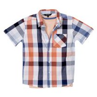 George Boys' Woven Shirt and Tee Set M