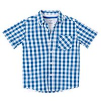 George Boys' Woven Shirt and Tee Set XS