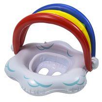 SwimSchool Babyboat gonflable arc-en-ciel avec auvent amovible