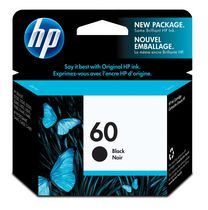HP 60 Black Ink Cartridge, EAS Sensormatic