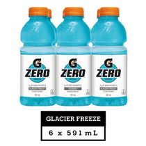 Gatorade Zero Sports Drink, Glacier Freeze, 591mL Bottles, 6 Pack