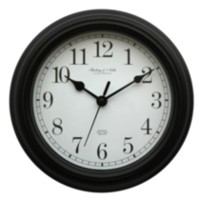 Basic Black Plastic Wall Clock