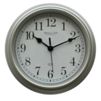 "8.75""/22.2 cm Basic Silver Plastic Wall Clock"