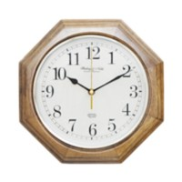 "11.5""/29.2 CM WOOD OCTAGON CLOCK"