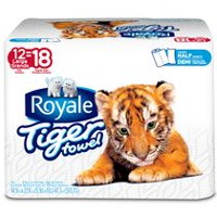 ROYALE® 2-Ply Tiger Towel Handy Half Sheets Paper Towel