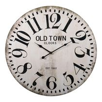 Sir Alex wall clock made from red plexiglas H-9