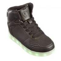 George Boys' Rave Lighted High-Cut Shoes Black 5