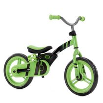 My First Balance-to-Pedal Training Bike for Kids in Green, Ages 2-5 Years, 12-Inch