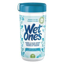 Wet Ones Hand Wipes, Vitamin E and Aloe