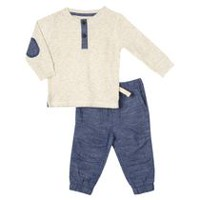 George Toddler Boys' Henley Tee and Joggers Set 2T