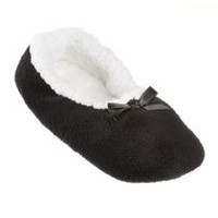 George Women's Soft Slippers Black 9-10