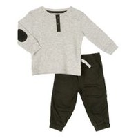 George Toddler Boys' Henley Tee and Joggers Set 3T