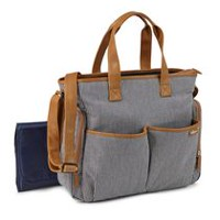 0a432f562 Baby Boom Places and Spaces Navy Pinstripe Diaper Bag